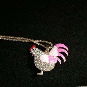 Fashion Jewelry Rooster Necklace